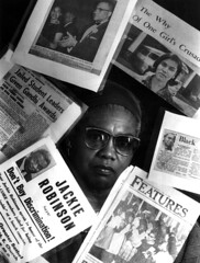 Patricia Stephens Due with articles about her civil rights involvement - Tallahassee (State Library and Archives of Florida) Tags: florida newspapers tallahassee clippings politicalactivists civilrightsleaders patriciastephensdue