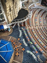 After the rain (LarryJay99 ) Tags: cruise ship allureoftheseas seats overhead color shapes curves fromabove