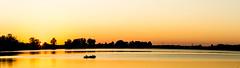 Sunset at Creve Coure Lake (adamopal) Tags: sunset panorama lake yellow canon evening canon5d goldenhour canon5dmkiii canon5dmarkiii crevecourelake crevecourelakepanorama