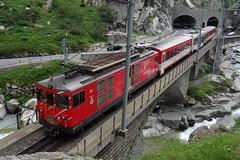 MGB Shuttle train to Andermatt  from Gschenen. (Franky De Witte - Ferroequinologist) Tags: de eisenbahn railway estrada chemin fer spoorwegen ferrocarril ferro ferrovia