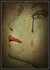 Tears (for all what's happening in this world this week) (patrick.verstappen) Tags: art texture textured watercolor nutwater painting painted fabriano facebook face fantasy belgium gingelom google flickr yahoo photo picassa pinterest pat ipernity ipiccy picmonkey portrait paper