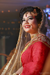 Anili (Safaria Suhas) Tags: wedding pretty red bangladesh smile photography portrait weddingportrait dhaka canon fullframe redbeauty beautiful bride bokeh beautifulgirl outroor beautidish flash softbox people