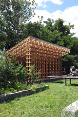 Sticks (archidose) Tags: cameraphone nyc art architecture astoria pavilion archleague