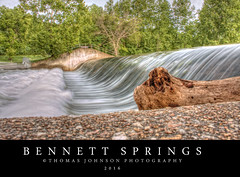Bennett Springs Waterfall (Thomas  Johnson Photography) Tags: water beautiful digital canon outside outdoors waterfall amazing scenic missouri swift trout 2016 bennettsprings troutfishing 40d bennettspringsstatepark thomasjohnsonphotography thomasjohnsonphotography