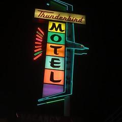 T-Bird (El Busta) Tags: vintage neon sign classic road trip sky clouds reno nevada