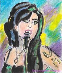 Amy Winehouse - In Memoriam 2016 (Matthias Talmeier) Tags: amywinehouse portrait acrylic acryl