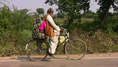 INDIEN, unterwegs nach Khajuraho, vollbeladen, 14144/6995 (roba66) Tags: indienunterwegsnachkhajuraho fahrrad transport bike people indien indiennord asien asia india inde northernindia urlaub reisen travel explore voyages visit tourism roba66 indianlife indianscene aufdenstrasen