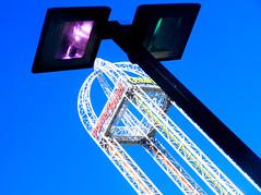 cedar14 (jonathan.carroll484) Tags: power tower cedar point light lamp street blue sky perspective