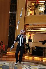 Juggling in the Atrium (PositiveLad) Tags: tom hayes emerald princess cruise cruiseship ship cruises cruising ukpositivelad positivelad cocktails sunset shiplife crown grill caribe c522 southampton uk guernsey food drink