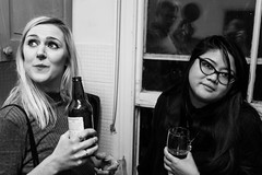 It's my birthday so I'm having a house party (Gary Kinsman) Tags: fujix100t fujifilmx100t london 2016 nw5 kentishtown party houseparty blackwhite bw night late availablelight ambientlight highiso