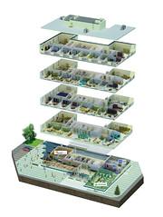 Nanotechnology center (infostep_infostep) Tags: nanotechnologycenter threedimensionalmodel administrative businesscenter russia illustration infostep informationdesign infographics
