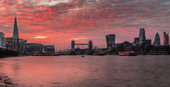 Great Fire of London (Jerry Fryer) Tags: london city sunset dusk towerbridge shard shadthames wapping toweroflondon gherkin cheesegrater tower42 walkietalkie river thames clouds cityscape