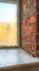 Message on the Window (tisatruett) Tags: brick old vintage window view windowsill shadow light pattern writing message