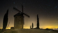 The Windmill - El Molino (Jess Ibez) Tags: windmill molino larioja landscape night nocturna paisaje circumpolar