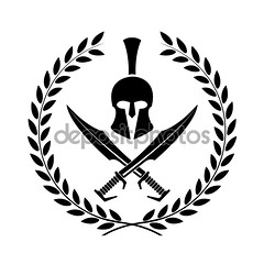 Spartan helmet icon symbol of a warrior (leandrorequena) Tags: profile leaves spartan isolated wreath rome hat white power sign vector civilization gladiator symbol soldier history helmet military greece old greek roman black mohawk warrior sparta shape icon illustration sword object battle retro war design corinthian classic trojan art antique army ancient armor athens silhouette armour victory mascot centurion metal