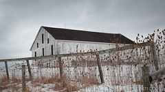 White Barn (younkenphoto) Tags: barn fence snow white andrew wyeth