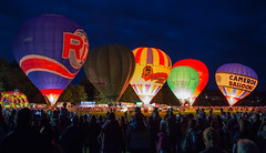 Strathaven Balloons at Night (simpletones) Tags: air balloon festival strathaven night light scotland