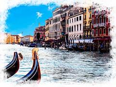 Venecia, Venice Gondolas 003 (www.ignaciolinares.com) Tags: venecia venice venezia gondola canales sanmarcos feniche campanile ilduomo eldoge vaporetto veneto italia