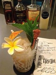 Mai Tai (Trader Vic) with Appleton 12 Jamaican rum, La Favorite coeur de rhum, lime juice, Clement Creole shrubb, homemade orgeat, simple syrup (*FrogPrincesse*) Tags: cocktail tiki rum tradervic maitai lime rhumagricole jamaicanrum orgeat creoleshrubb