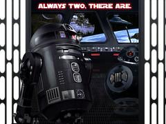 Dark Droids (caffeineandpixels) Tags: starwars droids r2d2 c2b5 rogueone lucasfilm fanart sith jedi deathstar emperorpalpatine darthvader