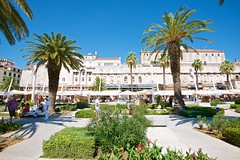 Split, Croatia (Herculeus.) Tags: 2016 adults aug buildings city columns exterior homes landscape lifestyles med16 outdoor outdoors palaces palmtrees people science shops split streetscenes trees palace diocletianspalace roman architectureinpixels architecture palm tree palmtree building plant ngc 5photosaday croatia