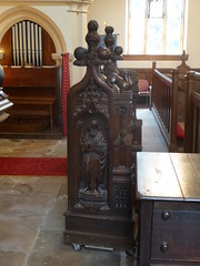 Lectern (Reused Bench Ends), Barkestone (Aidan McRae Thomson) Tags: barkestone church leicestershire medieval woodwork woodcarving