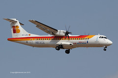 EC-LRU - 2012 build ATR 72-600, on approach to Runway 24L at Palma (egcc) Tags: mallorca palma 72 regional melilla ib majorca iberia ane atr pmi yw atr72 1032 airnostrum ibe lepa 72600 ciudaddemelilla eclru