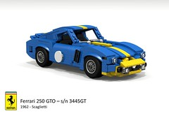 Ferrari 250 GTO Berlinetta s/n 3445GT (1962 - Scaglietti) (lego911) Tags: auto italy classic car model italian lego render under over ferrari million gto gt 1962 challenge lemans thousand 250 cad racer lugnuts 89 povray v12 moc scaglietti berlinetta ldd miniland 3445 foitsop lego911 3445gt overamillionunderathousand sn3445gt