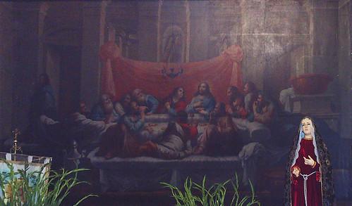 La Última Cena y Dolorosa, Iglesia de Santa María de la Asunción, Acajete, Puebla