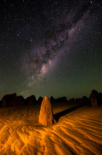 Milky Way over the Pinnacles Desert - Cervantes, Western Australia
