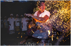Breaking The Fire (Bali Based Freelance Photographer and Photo Stocks) Tags: life people bali nature beauty canon indonesia eos photo foto stock culture daily cultural alam budaya balinese culturalevent myudistira madeyudistira myudistiraphotography
