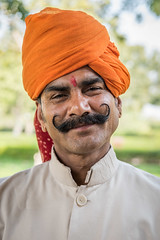 Magnificent moustache (Richard McGuire) Tags: india man moustache rajasthan jodhpur ummaaidbhawanpalace