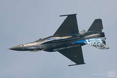 F-16C Zeus Solo Display Hellenic Air Force (Spotterforlife) Tags: peer flanders belgien 2014 kleinebrogel ebbl belgianairforcedays