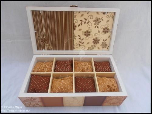 """Caixa de bijuteria e de 8 relógios """"Pure Chocolate"""""""
