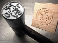 Martillo marcado madera