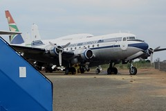 ZS-AUA (IndiaEcho Photography) Tags: africa museum canon eos airport african aircraft aviation south aeroplane civil airways douglas rand johannesburg airliner airfield germiston dc4 qra 1000d fagm zsaua