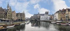 Graslei e Korenlei (Fil.ippo) Tags: panorama nikon cityscape belgium harbour ghent hdr filippo gand graslei leie korenlei d7000 filippobianchi
