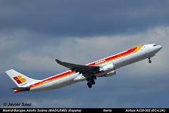 Iberia  Airbus A330-302 (EC-LUK) (javier sz) Tags: spain airbus iberia aviones adolfo comerciales surez madridbarajas a330302 madlemd ecluk