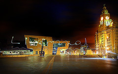 Liverpool (96tommy) Tags: city uk england skyline night liverpool river photography photo long exposure phone britain united great kingdom gb