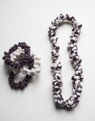 / BOHEMIANS / (dayanakazakova) Tags: pink white dark necklace purple pastel jewelry round textiles dayana nodes kazakova