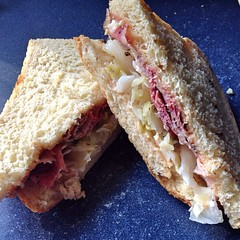 "We were all happy to have enough leftover smoked Pastrami from our local butcher @mainemeat to make a second round of sandwiches for dinner tonight. Leftovers never had it so good and neither did we!  #food • <a style=""font-size:0.8em;"" href=""https://www.flickr.com/photos/54958436@N05/17537553781/"" target=""_blank"">View on Flickr</a>"