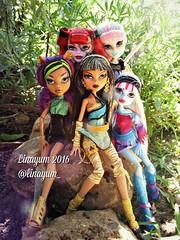 (Linayum) Tags: operetta clawdeen clawdeenwolf cleodenile abbey abbeybominable rochellegoyle mh monster monsterhigh mattel doll dolls mueca muecas toy toys juguete juguetes linayum