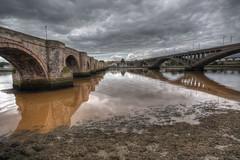 Berwick Bridges (D-W-J-S) Tags: berwick tweed river bridges