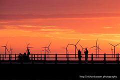 Summer in New Brighton. (*Richard Cooper *) Tags: new sunset brighton windfarm wallasey wirral merseyside