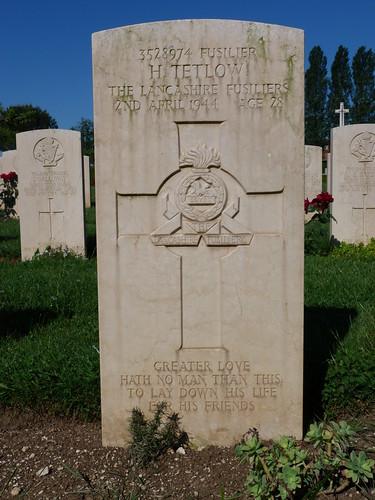 Monte Cassino - the Commonwealth War Cemetery, Lancashire Fusiliers
