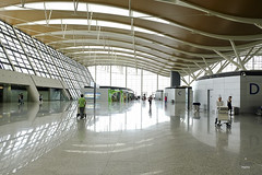 Wavy roof (A. Wee) Tags: shanghai  pudong  airport  china  pvg departure terminal terminal2