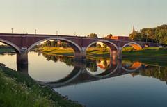 Old Bridge (Sanijel&Marija) Tags: bridge river sisak kupa reflection architecture analog landscape nikon nikkor n60 2880 fuji superia sky outdoor