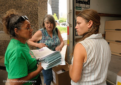 Preparing to Deliver Colorado Signatures (Greenpeace USA 2016) Tags: colorado ban fracking petition truck delivery fossilfuel oil gas denver coalition