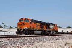 BNSF Nos. 7756 and 7767 (jbp274) Tags: fullerton trains railroad tracks locomotive burlingtonnorthernsantafe bnsf generalelectric ge es44 graffiti