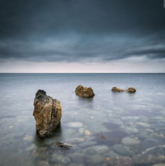 Mini Stacks (Images by William Dore) Tags: seascape sea seaside scotland water colour color moody rocks weather ayrshire southayrshire sunset nikon d810 nikond810 landscape outdoors outside